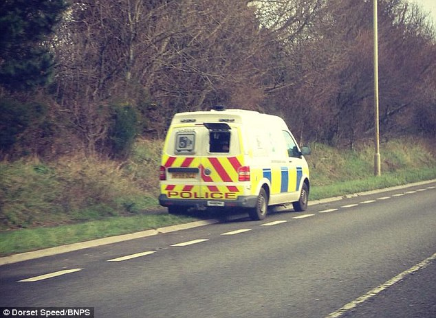 Drivers' lives are being put at risk by precariously-parked speed camera vans like this one, according to road safety group, Dorset Speed