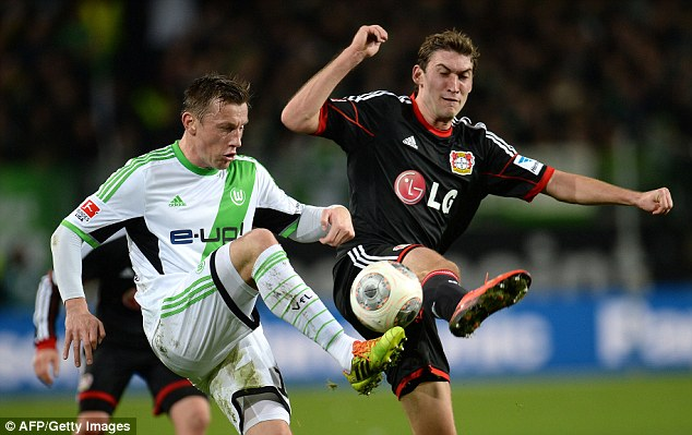 Stoke-bound? Ivica Olic (left) is leaving Wolfsburg this summer and says Stoke City is his first choice