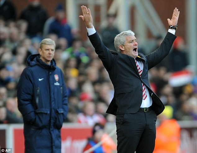Making his move: Stoke boss Mark Hughes has confirmed his interest in Olic and has already held discussions