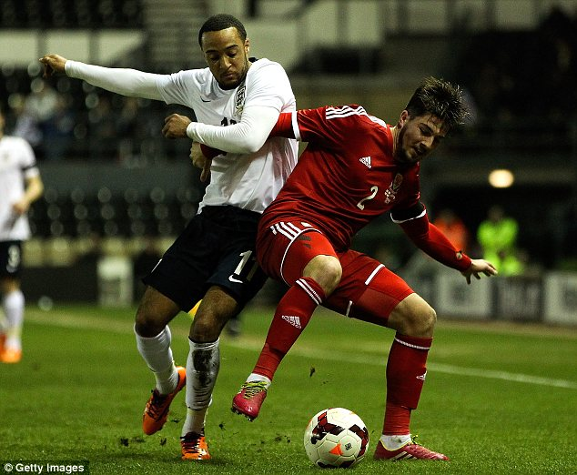 Impressive: Nathan Redmond was England's best player on the night