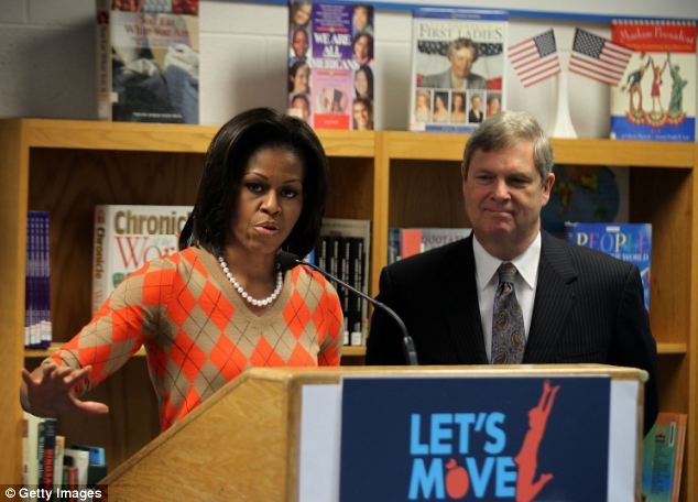 Trouble in low-calorie paradise: Michelle Obama launched the new nutrition restrictions at a Virginia school in January 2012, but the implementation has sent more than 1 million kids in search of food they like