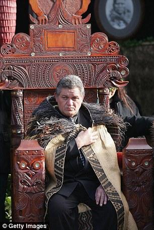 King Tuheitia of the Maoris