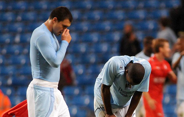 Unwelcome: Sturridge made 21 appearances in his three years at Manchester City, scoring just five times
