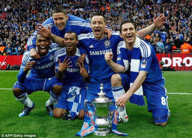 Nothing like a winning feeling: Despite scoring just 13 goals and failing to make his mark at Chelsea Sturridge did pick up an FA Cup winners medal with the Blues in 2012 at the expense of his current employers Liverpool