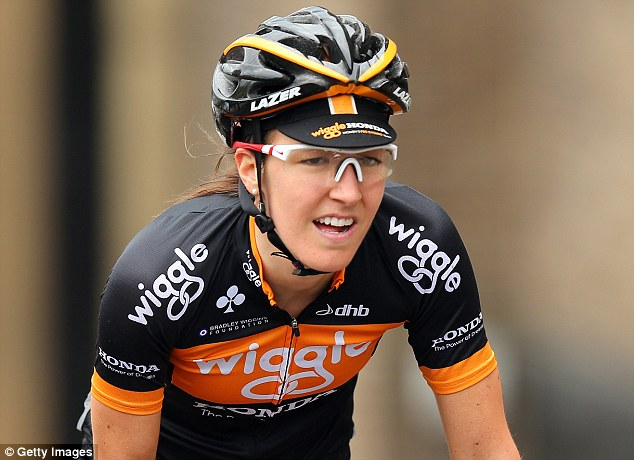 Champions: Dani King (pictured), Joanna Roswell and Elinor Barker also ride for the Wiggle Honda team