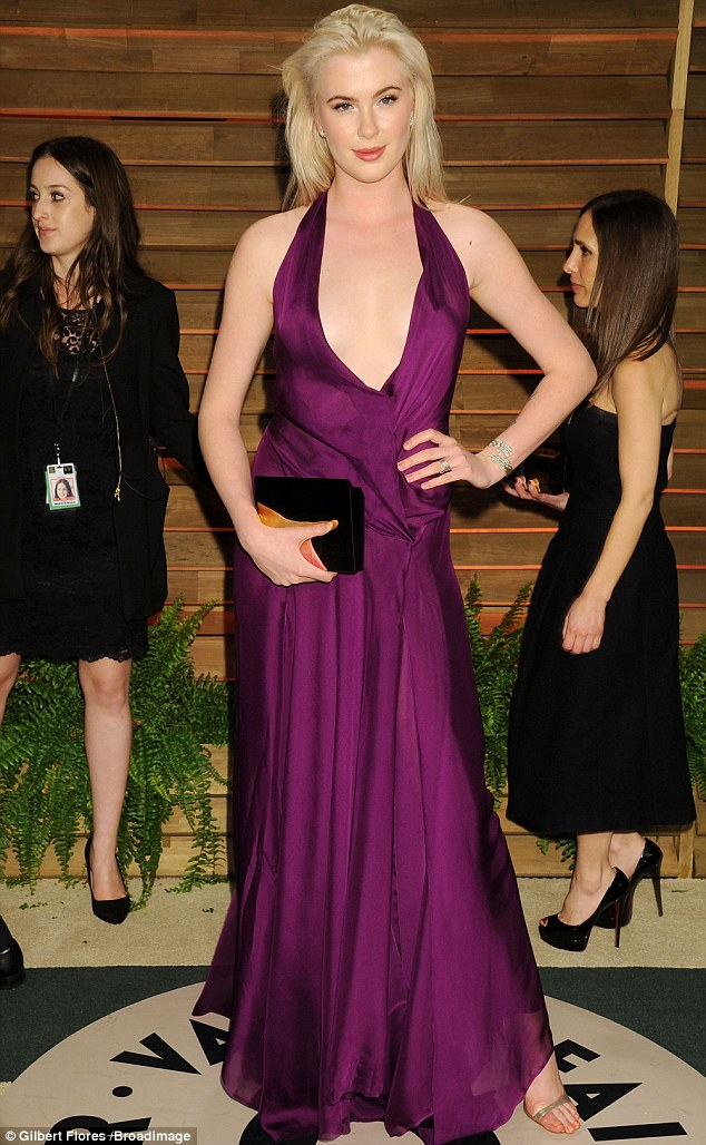 Purple reign: Perhaps she was paying tribute to the regal gown she wore at the Vanity Fair Oscar Party