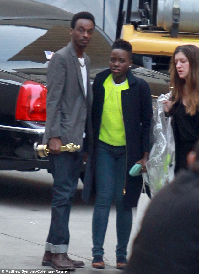 Hand in hand: Lupita brought Keinan along for support for her post Oscar press rounds