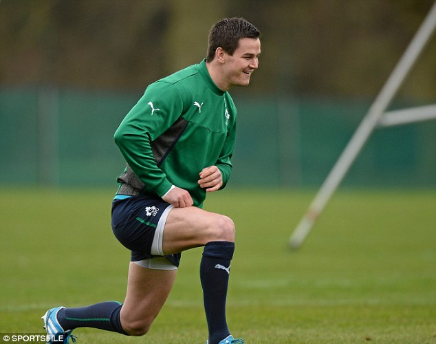Raring to go: Ireland will be releaved that vital player Johnny Sexton has recovered from a thumb injury