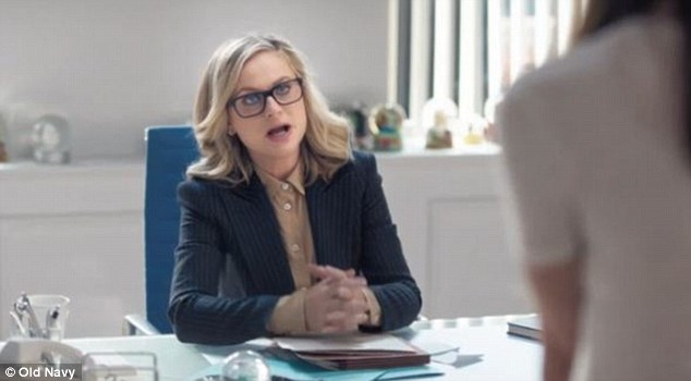 Starring role: Amy Poehler, 42, stars in Old Navy's spring advertising campaign - which debuted during last night's broadcast of American Idol