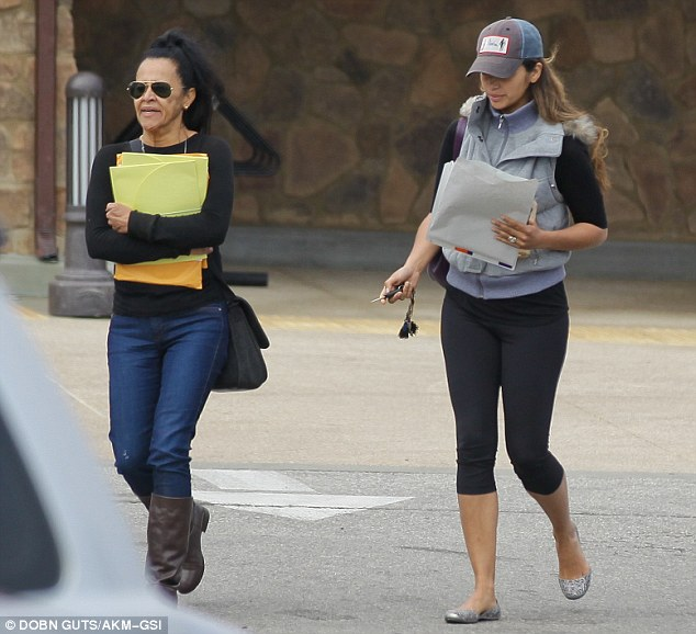 Family time: Camila was spotted running errands with her mother Fatima in Malibu