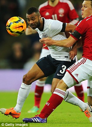 Experience: Ashley Cole proved his class against Denmark on Wednesday