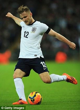 Youthful enthusiasm: Luke Shaw showed promise on his international debut