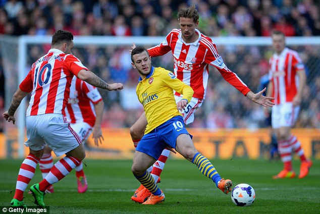 Not the best: Wilshere's performances for Arsenal have been steady but not spectacular