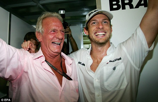 Tough to forget: Jenson Button will find it difficult this season without his father John by hi side