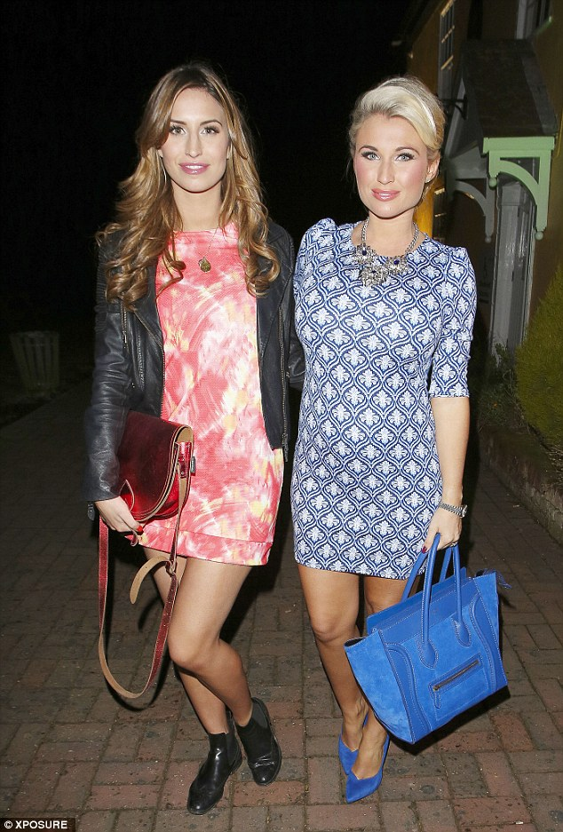 Minidresses: Ferne McCann also opted for a short frock for the evening at Sir Henry's Bar & Grill