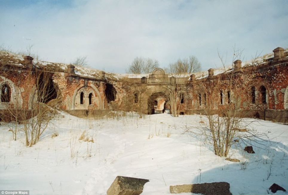 Above ground: The Fort bears the scars of the fire, with some of its outer walls above ground destroyed by the blaze