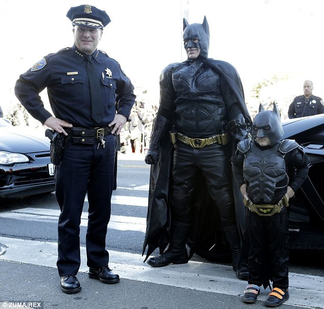 No criminal is safe: With the help of Batman and the police, Batkid wiped crime from the street of San Francisco