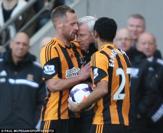 Controversy: Newcastle boss Alan Pardew was sent to the stands after headbutting Hull's David Meyler