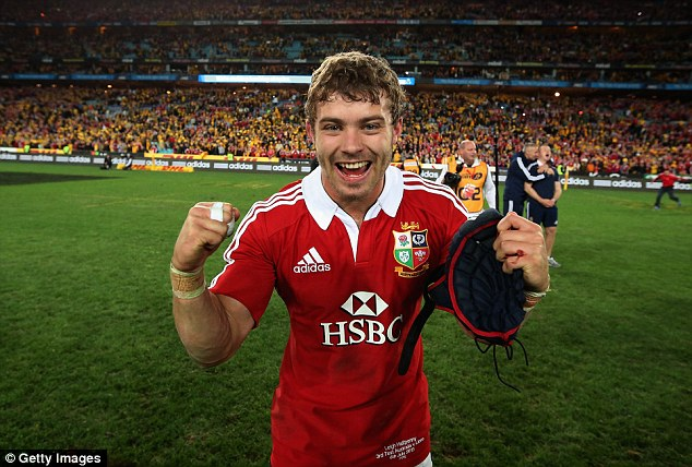 Delighted: The full back was named Man of the Series as the Lions won Down Under last year
