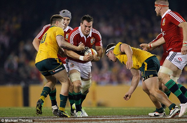Star man: Warburton had a big series and could be in line to captain the next Lions series