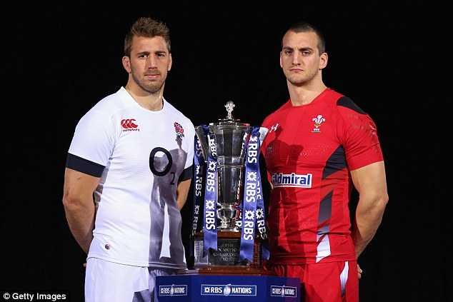 Battle: At the start of the tournament the rematch between England and Wales was the most enticing tie