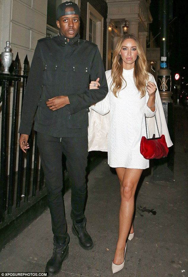 Shine bright: The blonde star was spotted the following day in a white long-sleeved number as she left The Arts Club in Mayfair with a pal