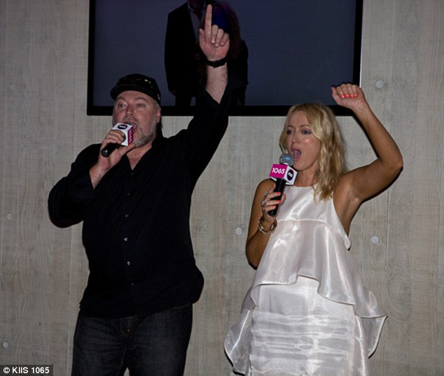 Famous radio duo: Kyle and Jackie O got the Goodbye To Summer Party started on Thursday night