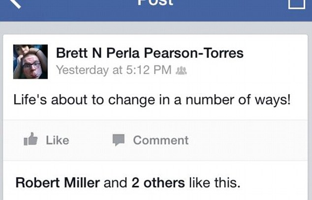 Message: A few hours before the body of his mother was discovered, Pearson posted this statement on Facebook, which was liked by Miller