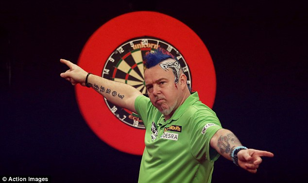 All square: Peter Wright drew 6-6 with Robert Thornton in the early match of the night