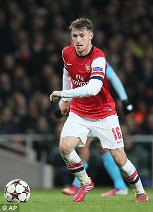 Injury: Arsenal's Aaron Ramsey is set to return to first team action soon