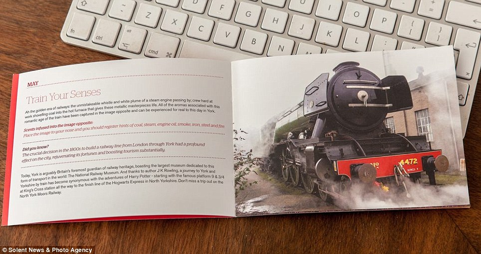 On track: The free book, available from the York tourist board, is a month-by-month guide to the city and its heritage