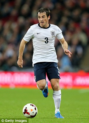Man in possession: Baines is the current favourite to start for England at left back