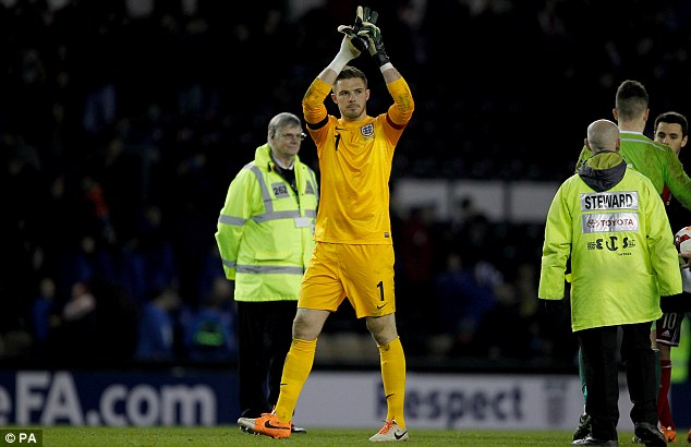Keeping his hand in: Butland may benefit from going to South America