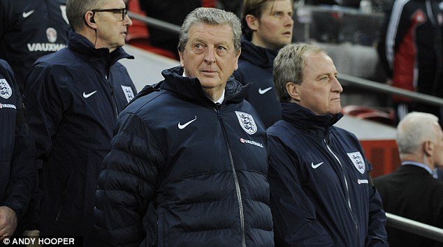 Roy's boys: England manager Hodgson could take younger players to Brazil for the experience
