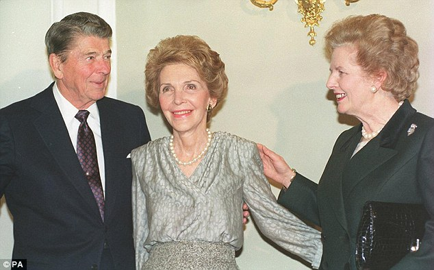 Still in charge: Back then, Ronald Reagan and Margaret Thatcher were still head of state in USA and England