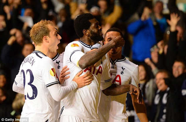 Up for it: Emmanuel Adebayor will be desperate to snatch a goal against Chelsea