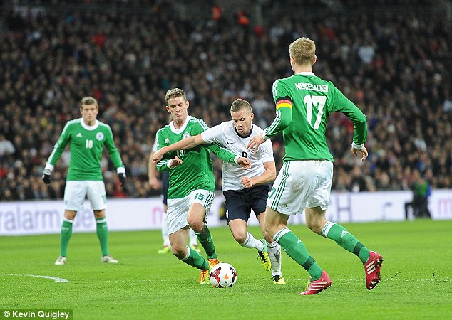 Cap call: Tom Cleverley was named in Roy Hodgson's squad to face Denmark last week