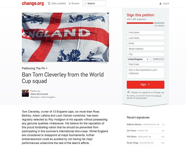 Get him out! The petition has clocked up over thousands of signatures in less than a day