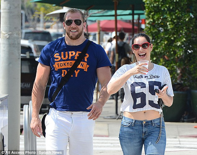 Hilarious: James Haskell knew exactly what to say to make actress Kelly Brook laugh