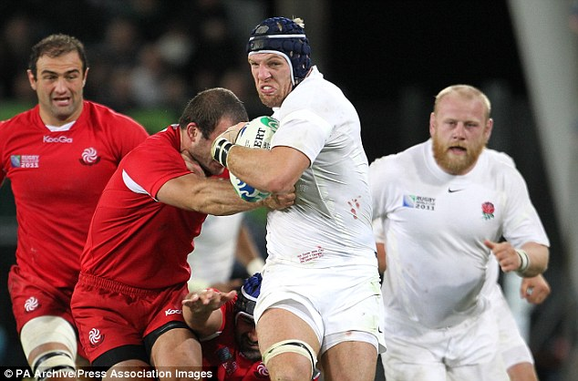 Unstoppable force: 28-year-old Haskell has won 50 caps for England thus far