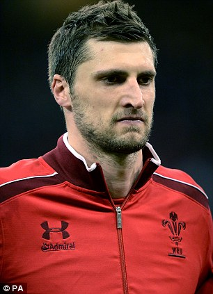 Blow: Luke Charteris will miss the Test against England on Sunday