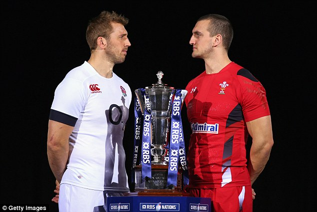 Head to head: Chris Robshaw (left) and Wales captain Sam Warburton will do battle on Sunday