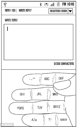 This would then be mapped onto a hand, pictured