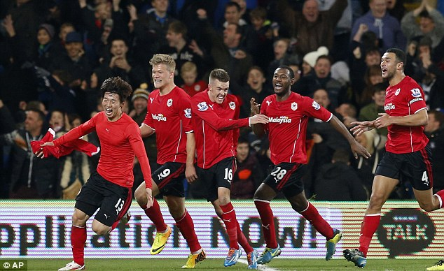 Moments: Cardiff have also had their ups, drawing with Manchester United and beating Manchester City