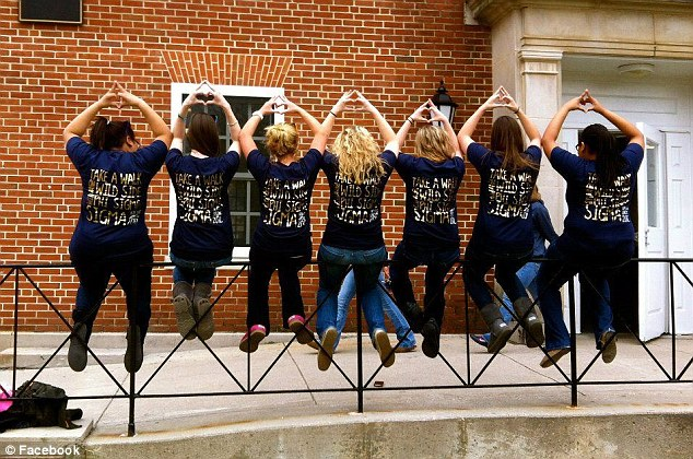 Country style: The women of Phi Sigma Sigma allegedly came to the event dressed in cut-off shorts, plaid shirts and boots