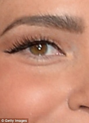 lauren is clearly using some clever color to fill in her brow