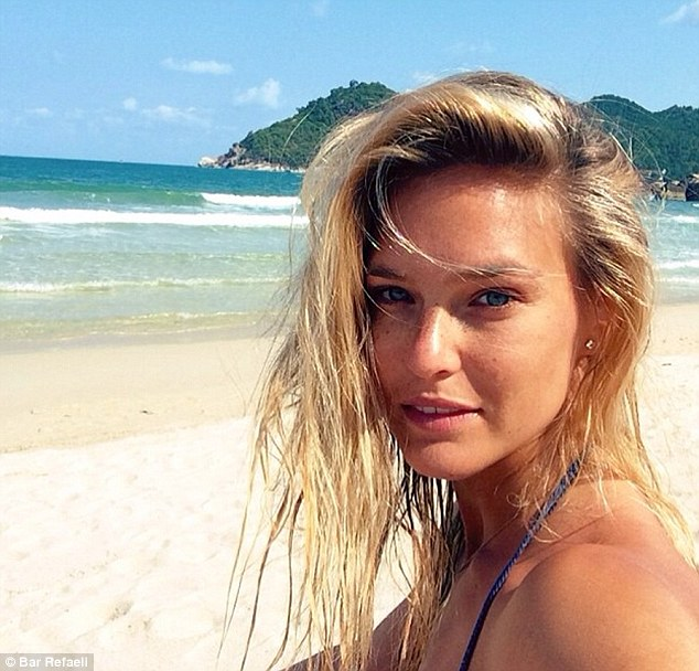 Radiant! Bar Refaeli posts a selfie on Instagram of her on a Thailand beach