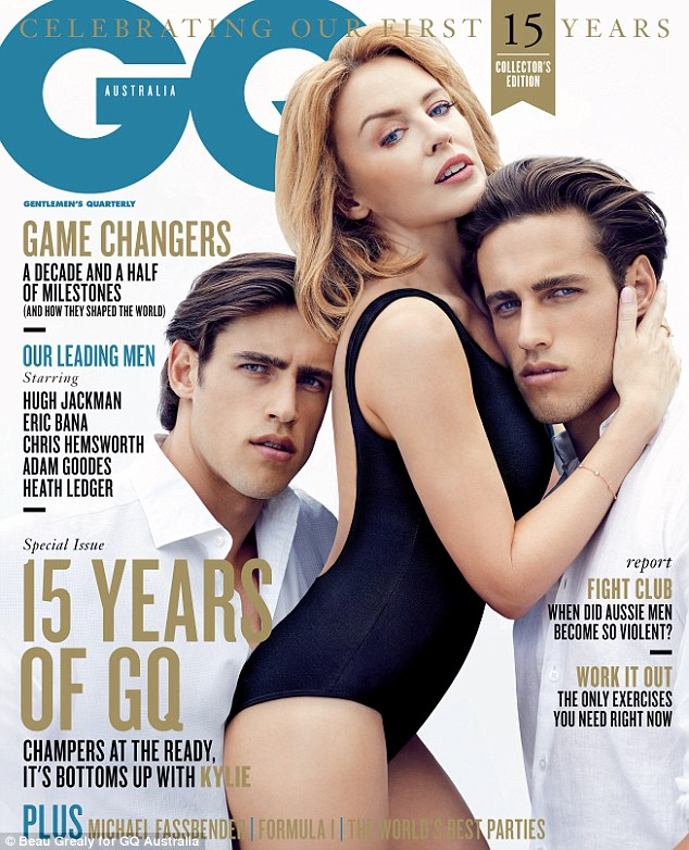Cover girl: The music diva took out the cover spot on GQ Australia's March issue