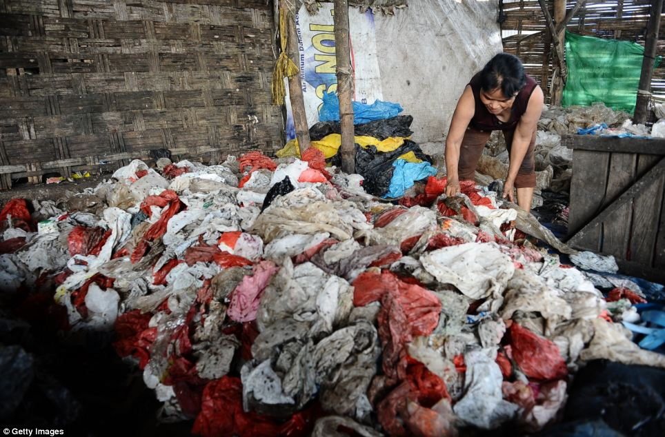 The mound of garbage which stretches far and wide is full of rotting vegetables, broken plastics, carrier bags, clothing, metals and general waste