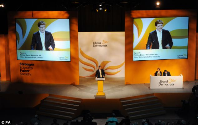 Mr Alexander told the Lib Dem spring conference in York that tax rises on the rich were also needed